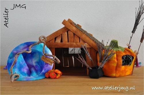 Log Cabin Kip Patroon.Patroonblad Heksenhuis