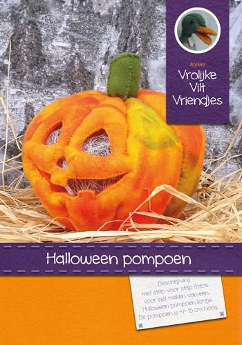 Pompoen Halloween.Materiaal Halloween Pompoen Met Ledlamp Wit
